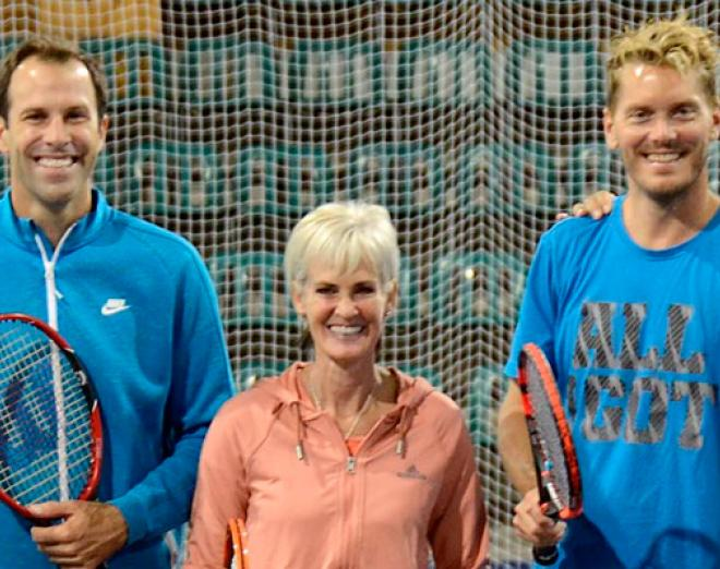 Tennis legends battle it out at the Brodies Tennis International at Gleneagles