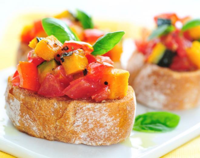 Avocado and tomato bruschetta recipe