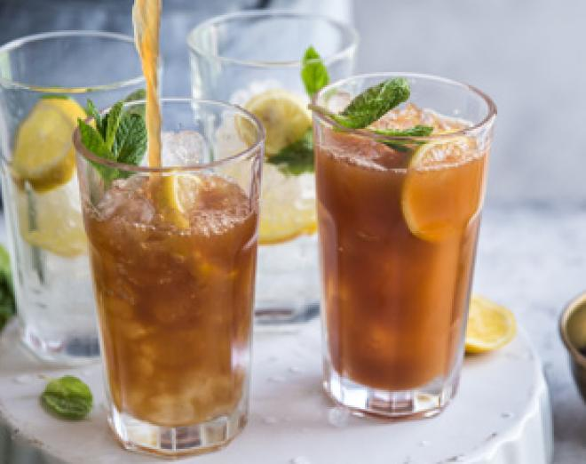 Alcohol-free Long Island iced tea cocktail recipe