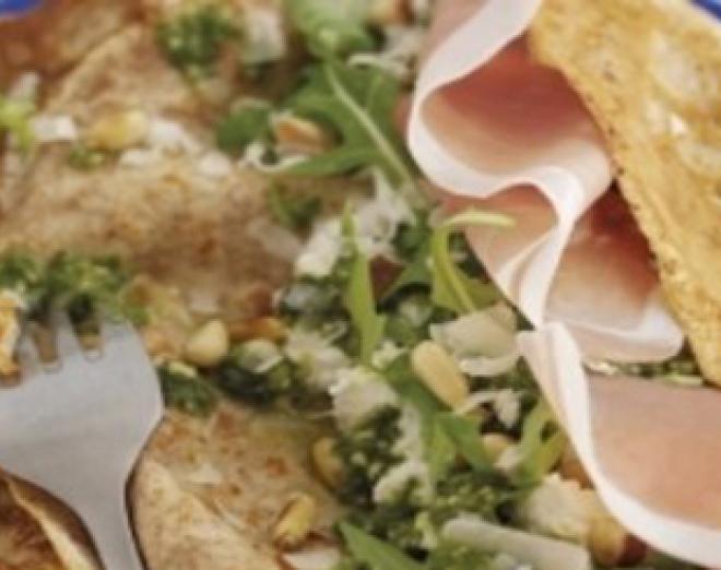 Parma ham and ricotta pancakes recipe