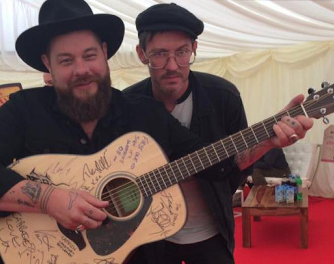 Backstage at T in the Park